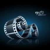 Carrete de película vector — Vector de stock