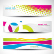 Stock vektor: Abstract header set