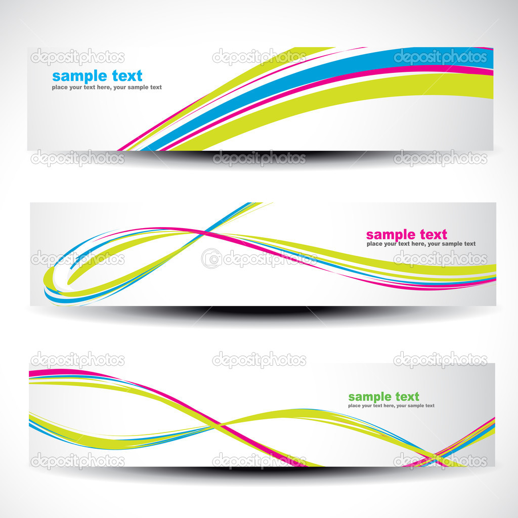 Abstract header vector set 2 — Stock Vector #10927598