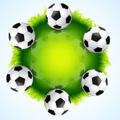 Stylish vector football — Stock Vector