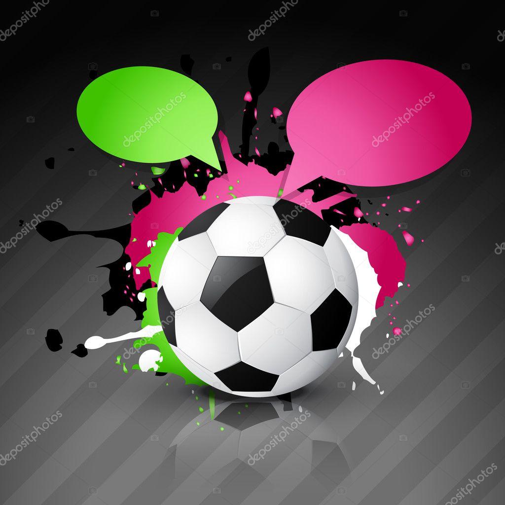 矢量足球设计与聊天气泡– 图库插图