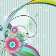 Vector de stock : Vector abstract flower