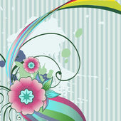 Vector abstract flower — Stock Vector