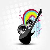 Vector abstract guitar — Stock Vector
