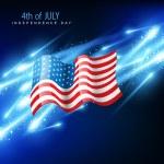 American flag vector — Stock Vector #11358331