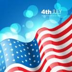 Creative american flag — Stock Vector #11358400