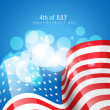 Royalty-Free Stock Vector Image: American flag vector