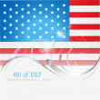 Stock Vector: 4th of july americindependence day