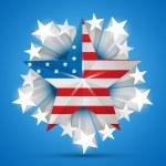 American flag vector — Stock Vector #11358772