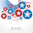 Stock Vector: 4th of july independence day