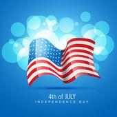Stylish american flag — Stock Vector