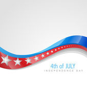 Unabhängigkeitstag 4. juli — Stockvektor
