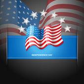 American flag label — Stock Vector