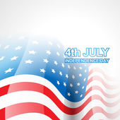 4th of july independence day — Vector de stock