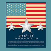 American independence day — Stock Vector