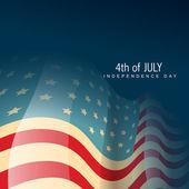 Vector america flag — Stock Vector