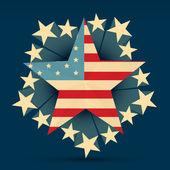 创意美国国旗 — 图库矢量图片