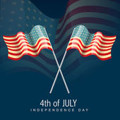 Vector 4th of july america flag — Stock Vector