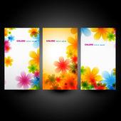 Set fiore vettoriale — Vettoriale Stock