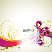 Vector floral design — Stock Vector