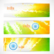 Stock Vector: Indiflag headers set