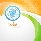 Kreativa indiska flaggan — Stockvektor