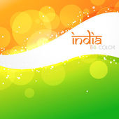 Beautiful indian flag — Stock Vector