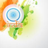 Creative indian flag — Stock Vector