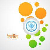 креативный индийский флаг — Cтоковый вектор