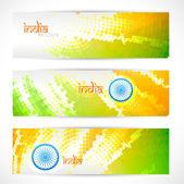 Indian flag headers set — Stock Vector