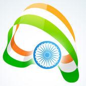 Stylish indian flag design — Stock Vector