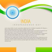 Beautiful indian flag — Stock Vector