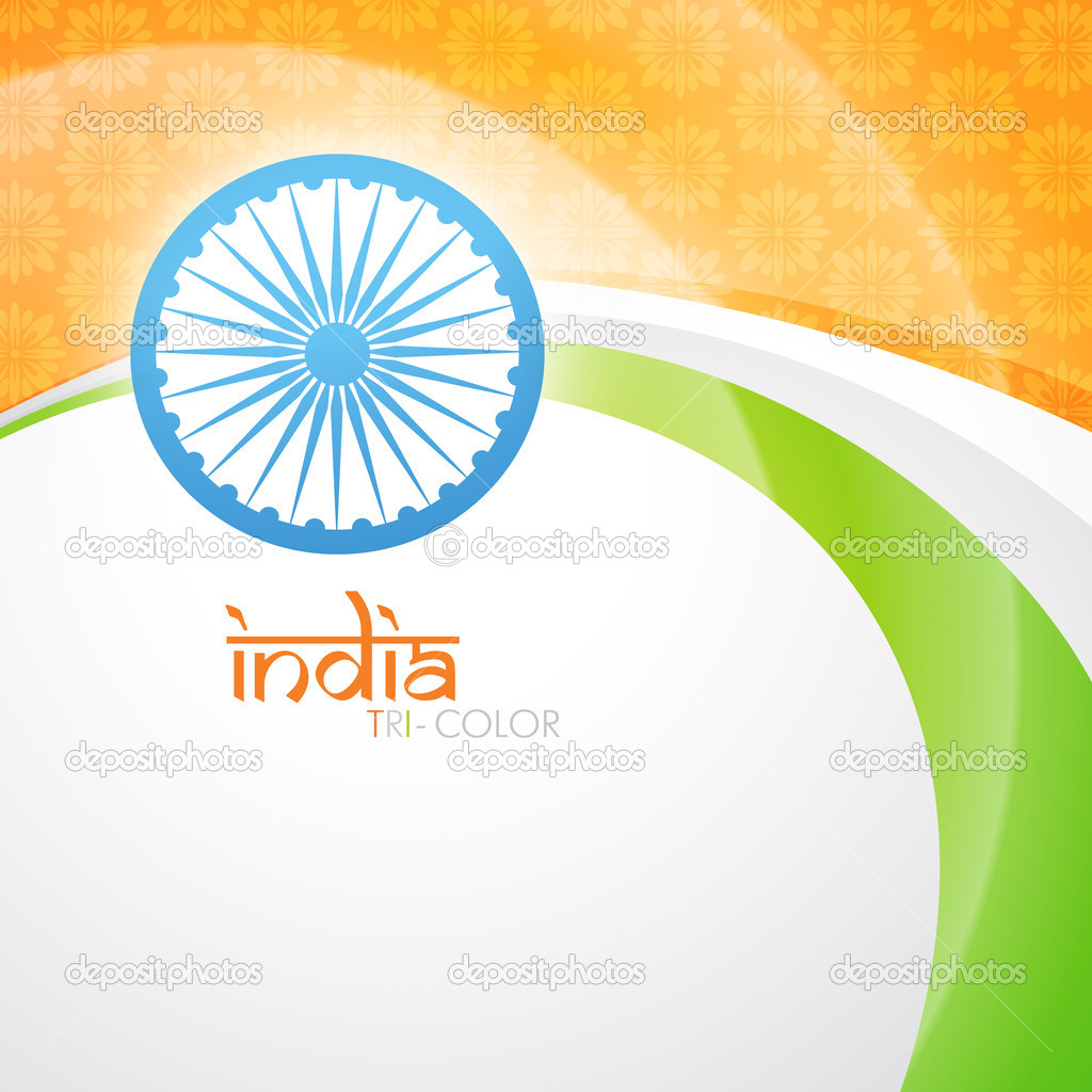 Creative indian flag vector design — Stock Vector #11948018