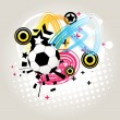 Abstract football vector — Stock Vector #12021716