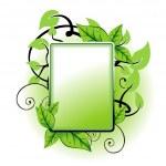 Green leaf frame — Stock Vector #12021829