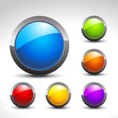блестящие кнопку набор — Cтоковый вектор