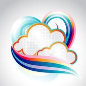 Abstract Cloud vector — Stock Vector