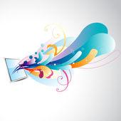 Vektor-spiegel mit florals — Stockvektor