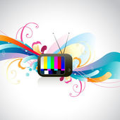 Vector colorful TV — Stock Vector