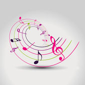 Vector music note — Vettoriale Stock
