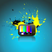Abstract art of TV — Stock Vector
