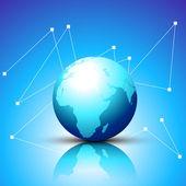 Shiny blue vector earth — Stock Vector