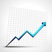 Freccia di progresso di crescita — Vettoriale Stock