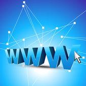 Internet tema arka plan — Stok Vektör