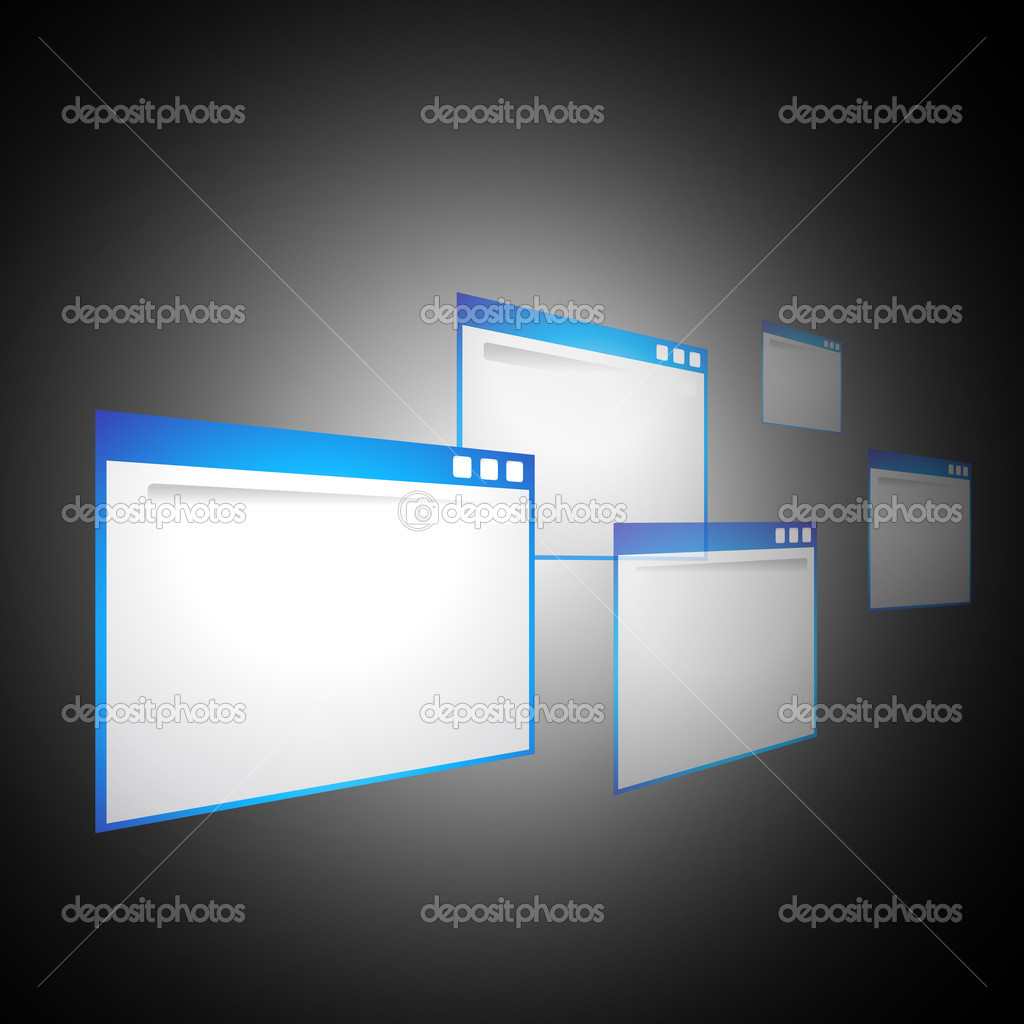 Perspective web browsers vector background  Stock Vector #12021878