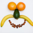 Face made of fruits — Stockfoto