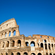 Colosseum with blue sky — Stock Photo #11064701