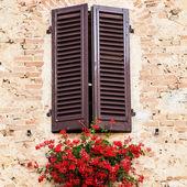 Windows in toscane — Stockfoto