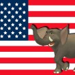 Angry Republican Elephant — Stock Photo