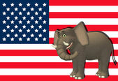 Happy Republican Elephant — Stock Photo
